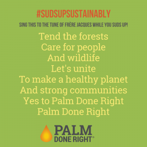 #SudsUpSustainably for the health of the planet and each other
